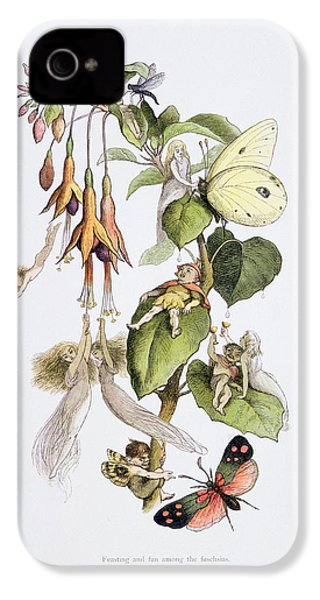 Feasting And Fun Among The Fuschias IPhone 4 Case by Richard Doyle