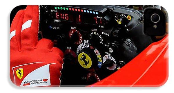 Ferrari Formula 1 Cockpit IPhone 4 Case by Marvin Blaine