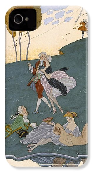 Fetes Galantes IPhone 4 Case by Georges Barbier