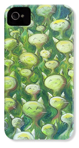Field Of Cats IPhone 4 Case by Nik Helbig