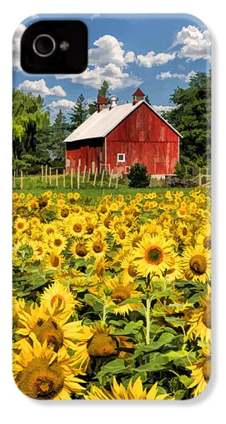 Field Of Sunflowers IPhone 4 Case by Christopher Arndt