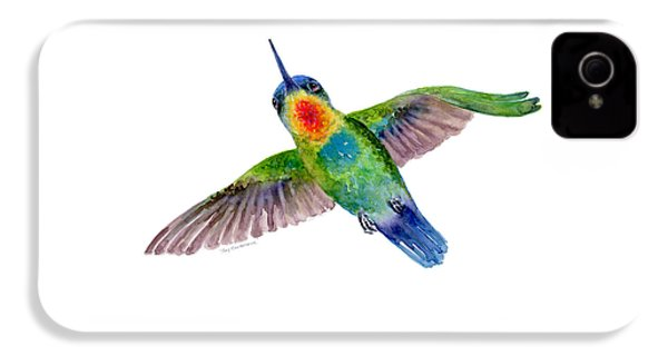 Fiery-throated Hummingbird IPhone 4 Case by Amy Kirkpatrick