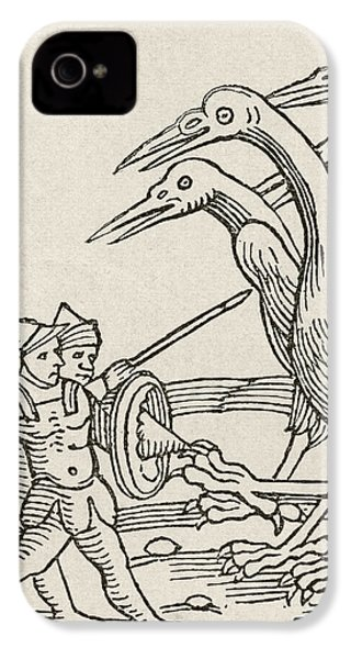 Fight Between Pygmies And Cranes. A Story From Greek Mythology IPhone 4 Case by English School