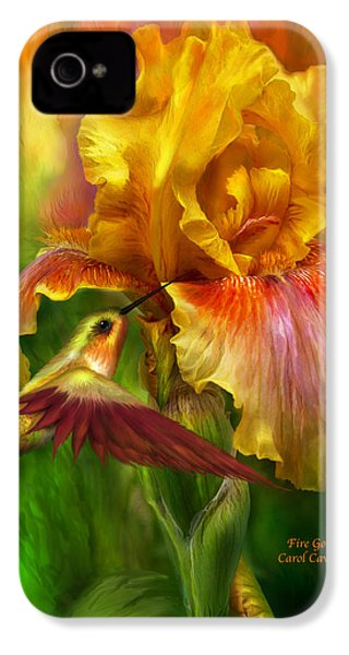Fire Goddess IPhone 4 / 4s Case by Carol Cavalaris