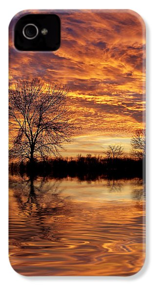 Fire Painters In The Sky IPhone 4 Case by Bill Pevlor