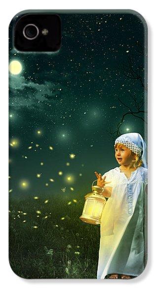 Fireflies IPhone 4 Case by Linda Lees