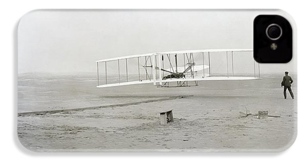 First Flight Captured On Glass Negative - 1903 IPhone 4 Case by Daniel Hagerman