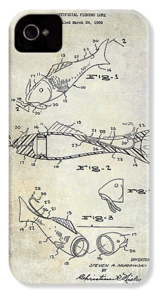 Fishing Lure Patent 1959 IPhone 4 Case