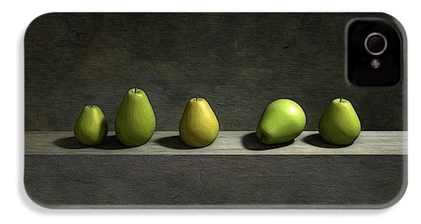 Five Pears IPhone 4 Case by Cynthia Decker