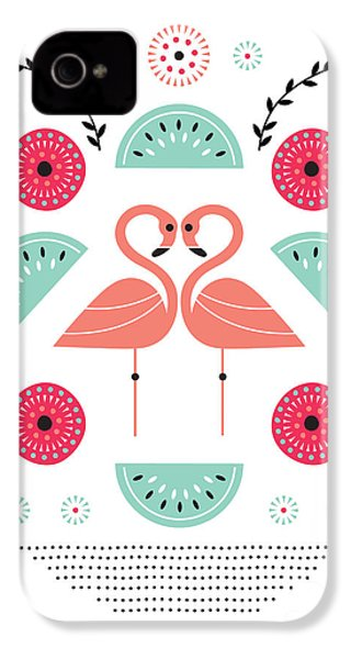 Flamingo Flutter IPhone 4 Case by Susan Claire