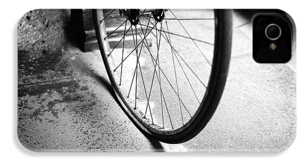 IPhone 4 Case featuring the photograph Flat Bicycle Tire by Dave Beckerman
