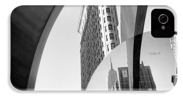 IPhone 4 Case featuring the photograph Flat Iron Building Empire State Mirror by Dave Beckerman
