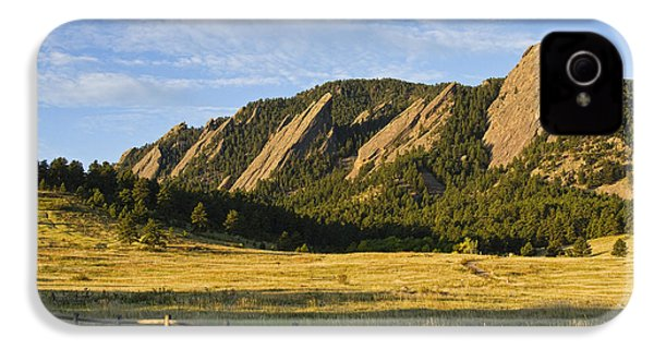 Flatirons From Chautauqua Park IPhone 4 Case by James BO  Insogna