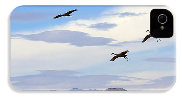 Flight Of The Sandhill Cranes IPhone 4 / 4s Case by Mike  Dawson