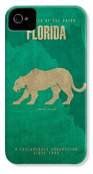 Florida State Facts Minimalist Movie Poster Art  IPhone 4 Case by Design Turnpike