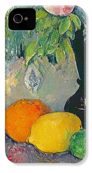 Flowers And Fruits IPhone 4 Case by Paul Cezanne