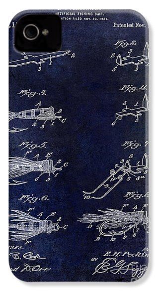 1922 Fly Fishing Lure Blue IPhone 4 Case