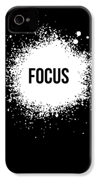 Focus Poster Black IPhone 4 / 4s Case by Naxart Studio