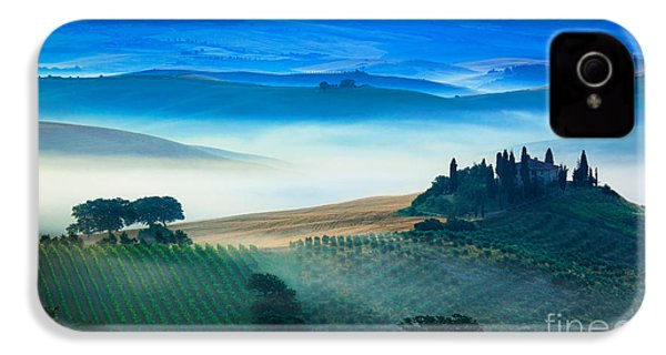 Fog In Tuscan Valley IPhone 4 / 4s Case by Inge Johnsson