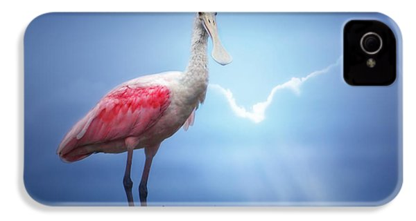 Foggy Morning Spoonbill IPhone 4 Case by Mark Andrew Thomas