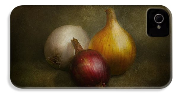 Food - Onions - Onions  IPhone 4 Case by Mike Savad
