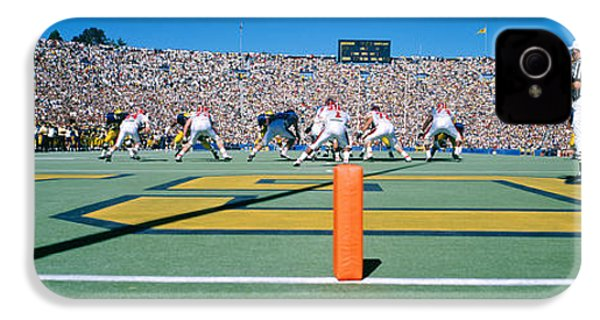 Football Game, University Of Michigan IPhone 4 Case by Panoramic Images
