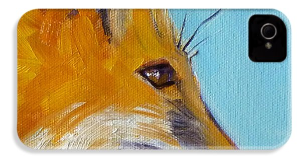 Fox IPhone 4 Case by Nancy Merkle