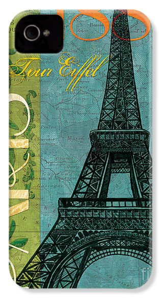 Francaise 1 IPhone 4 Case by Debbie DeWitt
