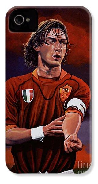 Francesco Totti IPhone 4 / 4s Case by Paul Meijering