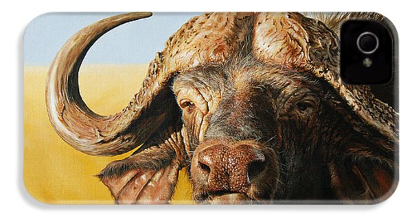 African Buffalo IPhone 4 Case by Mario Pichler