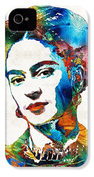 Frida Kahlo Art - Viva La Frida - By Sharon Cummings IPhone 4 / 4s Case by Sharon Cummings