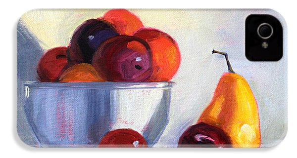 Fruit Bowl IPhone 4 Case by Nancy Merkle