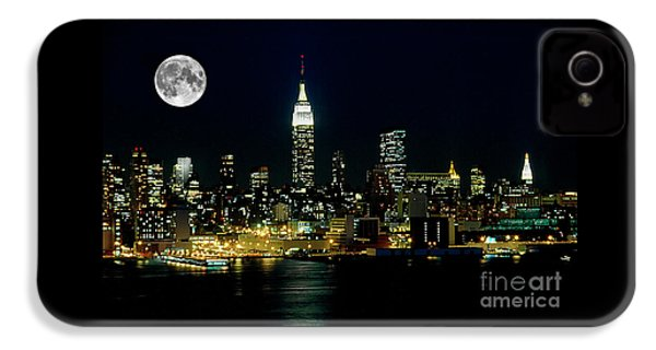 Full Moon Rising - New York City IPhone 4 Case