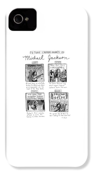Future Career Moves Of Mickael Jackson IPhone 4 Case by Roz Chast