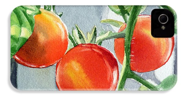 Garden Cherry Tomatoes  IPhone 4 Case by Irina Sztukowski
