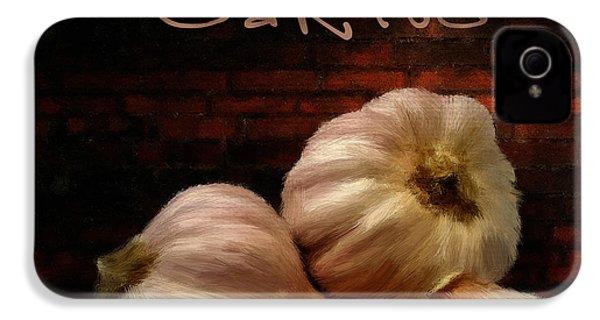 Garlic II IPhone 4 Case by Lourry Legarde