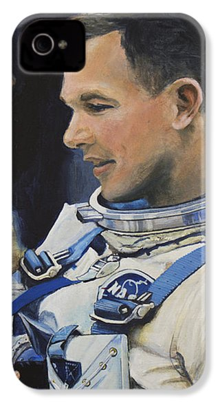 Gemini Viii Dave Scott IPhone 4 / 4s Case by Simon Kregar