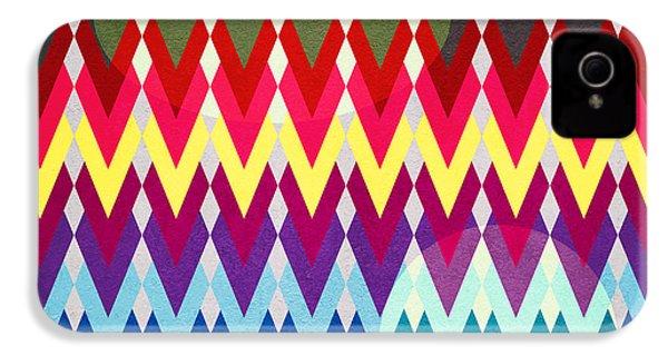 Geometric Colors  IPhone 4 Case by Mark Ashkenazi