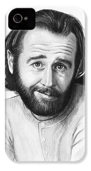 George Carlin Portrait IPhone 4 / 4s Case by Olga Shvartsur