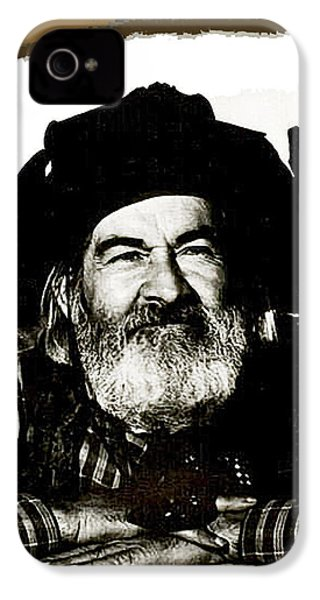 George Hayes Portrait #1 Card IPhone 4 Case by David Lee Guss