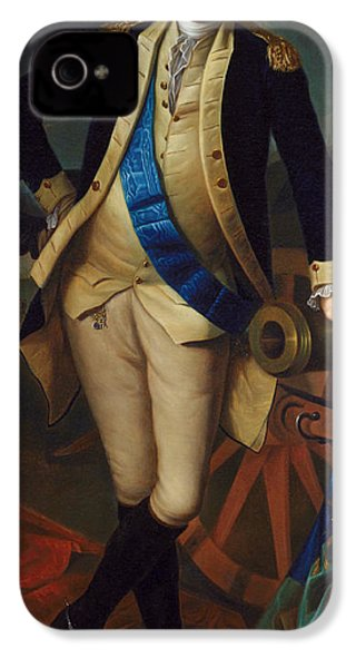 George Washington IPhone 4 Case by Charles Wilson Peale