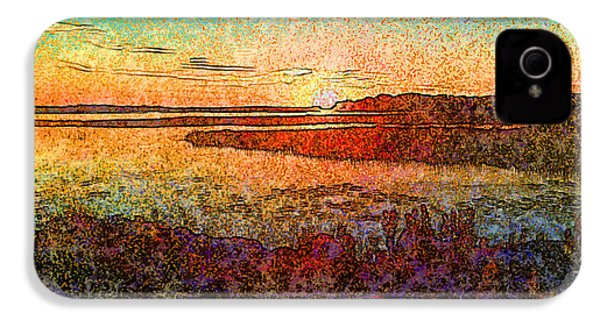 Georgian Bay Sunset IPhone 4 Case by Claire Bull