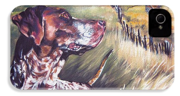 German Shorthaired Pointer And Pheasants IPhone 4 Case
