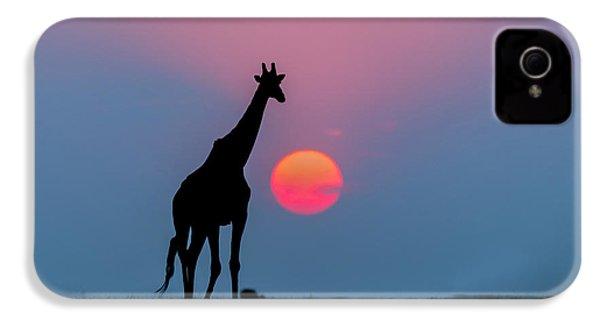 Giraffe At Sunset Chobe Np Botswana IPhone 4 Case by Andrew Schoeman