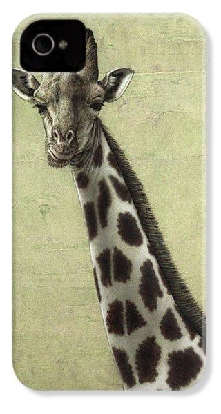 Giraffe IPhone 4 Case by James W Johnson