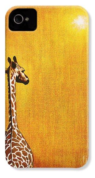 Giraffe Looking Back IPhone 4 Case by Jerome Stumphauzer