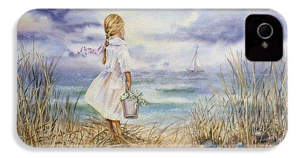 Girl At The Ocean IPhone 4 Case by Irina Sztukowski
