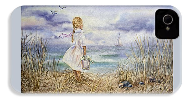 Girl At The Ocean IPhone 4 Case