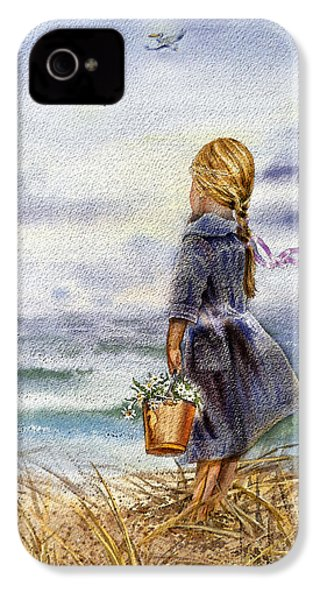 Girl And The Ocean IPhone 4 Case