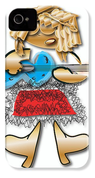 IPhone 4 Case featuring the digital art Girl Rocker 6 String Guitar by Marvin Blaine